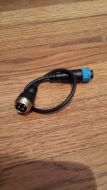 Navman adapter xducer cable 8-pin blue conn. to 4-pin male mic conn.